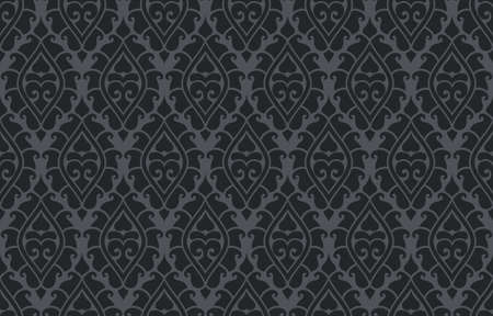 Vector seamless damask pattern. Rich ornament, old Damascus style pattern for wallpapers, textile, Scrapbooking etc. Ilustração
