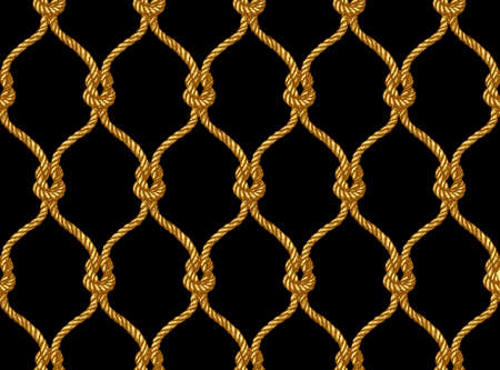 Rope seamless tied fishnet pattern. Damascus style pattern for wallpapers, textile, Scrapbooking etc. Vektorové ilustrace