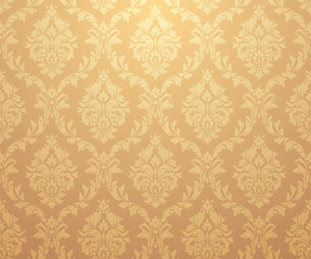 Vector damask gold patterns. Rich ornament, old Damascus style gold pattern for wallpapers, textile, packaging, design of luxury products - Vector Illustration Reklamní fotografie - 123111880