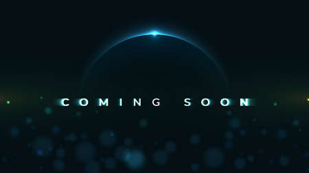Coming Soon text on abstract Sunrise Dark Background with motion effect. Design Concept for sale, business advertising, web, promotion announce, poster, banner, flyer. - Vector Illustration Imagens - 123111884