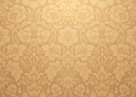Vector damask gold patterns. Rich ornament, old Damascus style gold pattern for wallpapers, textile, packaging, design of luxury products - Vector Illustration Ilustração
