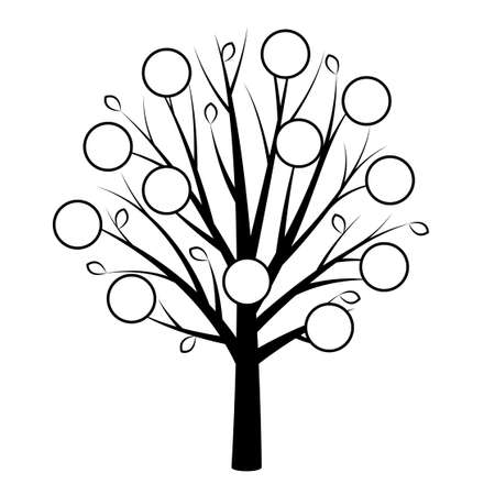 Genealogical tree. Family tree concept for human. - Vector Vector Illustration