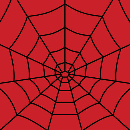 Web pattern on red background. - Vector web