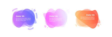 Abstract Pastel Gradient Banners, Liquid Shapes, Trendy Modern Background - Vector
