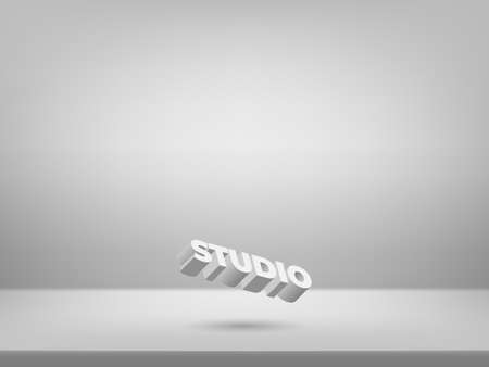 Grey studio background. Studio backdrop. Modern design for presenting your product - Vector