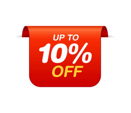 Bookmark Discount sticker. Sale tag up to 10 off