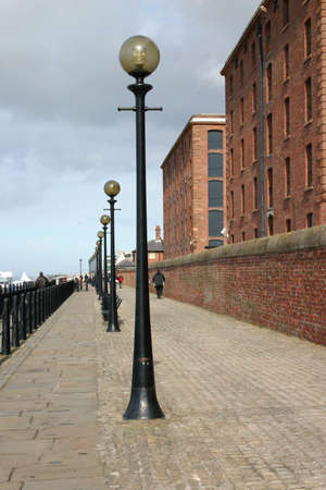 regenerate: Walkway Alongside the Mersey River in Liverpool and the Albert Dock