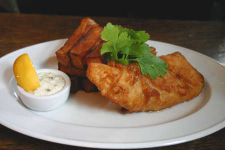 tartar: Battered Fish with Chunky Square Cut Chips and Tartar Sauce