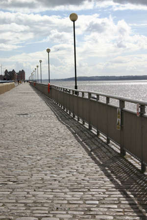 mersey: Walk alongside the river Mersey in England