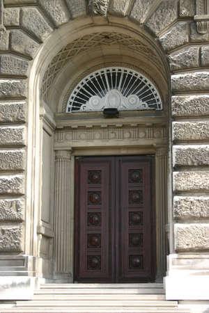 fanlight: Ornate Wooden Door and Doorway