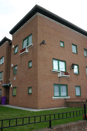 dull: Dull Apartments in Liverpool England Stock Photo