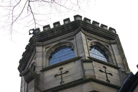octogonal: Vista de la torre octogonal en York