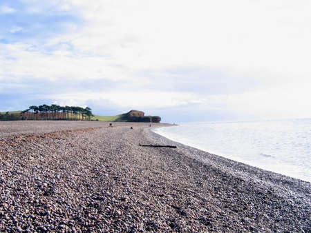 stoney: Stoney Beach in Devon England