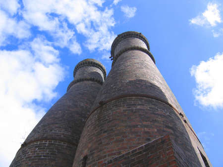brick kiln: Pottery Kilns Against the Sky