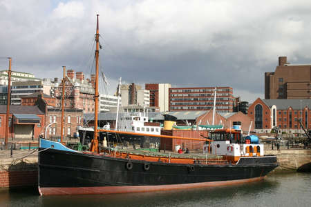 Old Boat in Liverpool Albert Dock photo