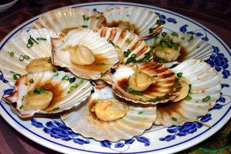 consume: Chinese Scallops on Shell