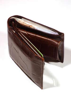 Leather Wallet Vol Creditcards en Cash