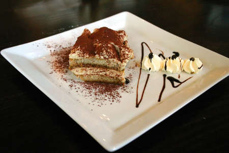 feed up: Italian Tiramisu Stock Photo