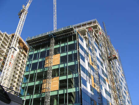 Construction of New Building in Liverpool England Stock Photo - 358806