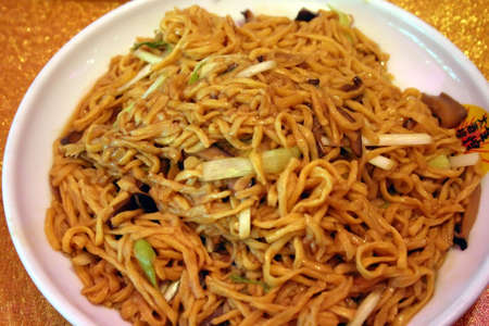 soggy: Chinese Soggy Noodle DIsh Stock Photo