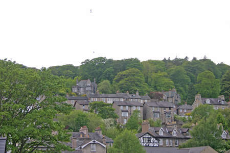 Houses on a Hill in Kendal Cumbria UK photo