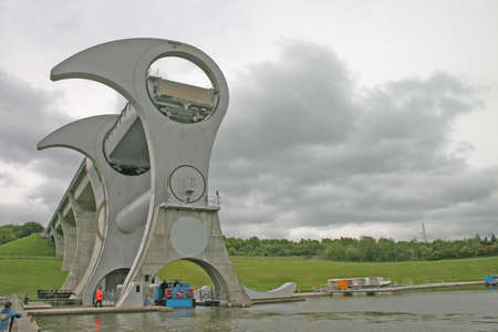 scot: Falkirk Wheel in Scotland UK