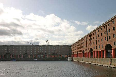 Albert Dock Buildings in Liverpool England UK photo