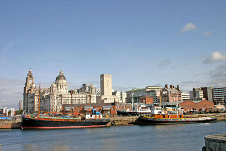 liverpool: Two Liverpool Ships in Dock UK England Stock Photo
