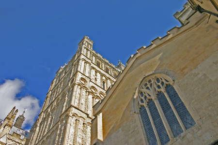 devon: Exeter Cathedral in Devon England