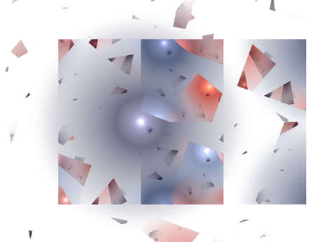 shattered glass: Abstract Shattered Glass Image in Blue and Red Against a White Background Stock Photo