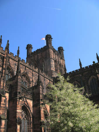 View of Chester Anglican Cathedral in England UK photo