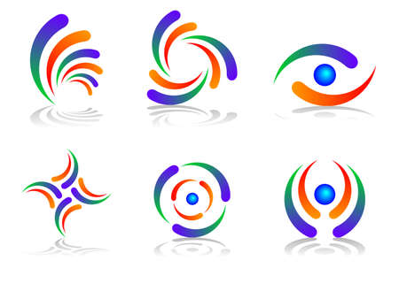 Colourful and Abstract Logo Design Set photo