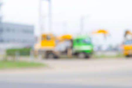 truck crane: blurred picture of the truck crane Stock Photo