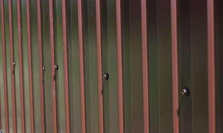 corrugated metal: Fence of corrugated metal