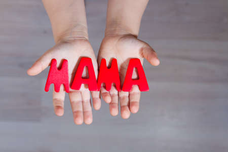 most creative: word mama at the hands of a small child