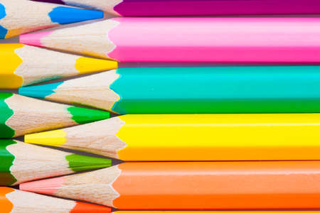 close up: Colour pencils close up