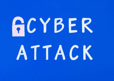 onslaught: Cyber attack Stock Photo