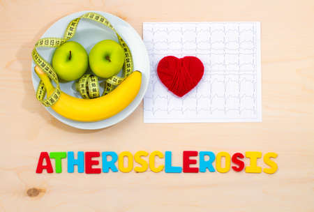 atherosclerosis: Healthy diet. Fresh fruit plate. Prevention of atherosclerosis