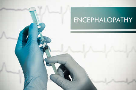 encephalopathy: Stop encephalopathy. Syringe is filled with injection. Syringe and vaccine