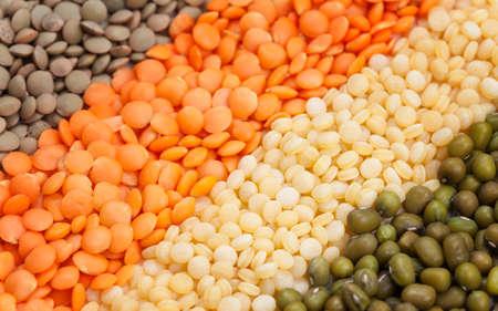 heathy: Variety of raw heathy super foods legumes and grain