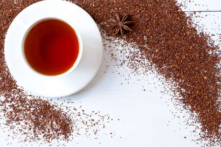 Traditionelle Afrikanische Getranke Roten Rooibos Tee In Holzernen