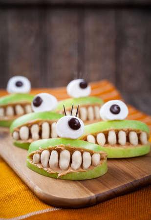 Homemade Halloween Scary Food Monsters Natural Vegetarian Snack ...
