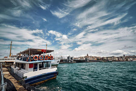Bosphorus view with Golden Horn bridge
