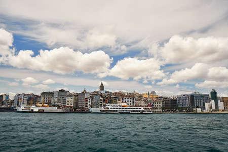 Galata tower Beyoglu district travel destination famous historical