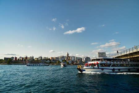 Galata tower Beyoglu district travel destination Stockfoto