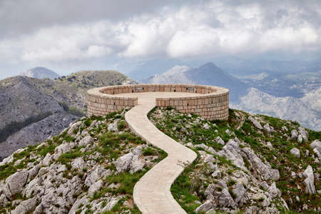 Montenegro Lovcen Peter Negosh mausoleum view famous travel landmark