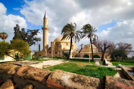 Hala Sultan Tekke mosque in Cyprus Larnaka famous tourism travel muslim landmark