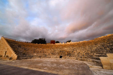 Kourion ancient roman theater in Cyprus