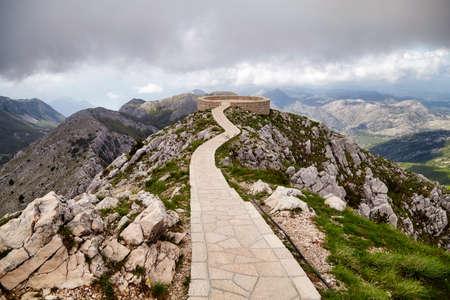 Montenegro Lovcen Peter Negosh mausoleum view famous Balkans travel landmark Archivio Fotografico