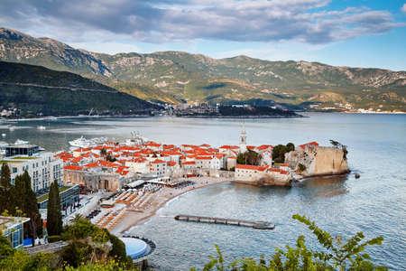 Budva old town houses architecture history Montenegro tourist landmark summer vacation travel destination